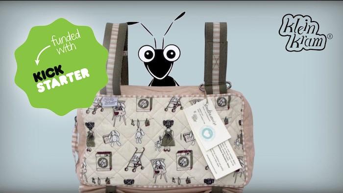 Eine Wickeltasche mit Tragevarianten, die das urbane Leben erleichtern - a patent-pending diaper bag to ease city life