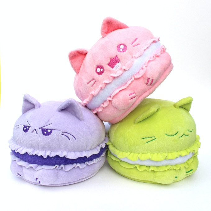 Pink Mewcaron funded with Purrista Pawfee's first Kickstarter. Help bring its friends to life!