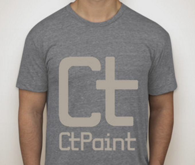 American apparel gray tri-blend T Shirt, ringspun. Available in male and female sizes