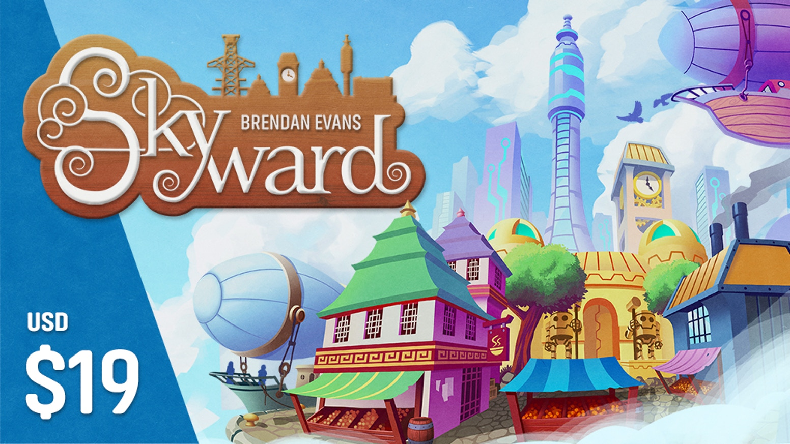 A clever and unique strategy card drafting game set in a world where buildings float, airships rule and pigeons are rodents of the sky.