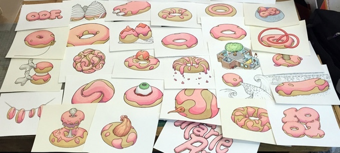 Custom donut drawing orders from a previous campaign