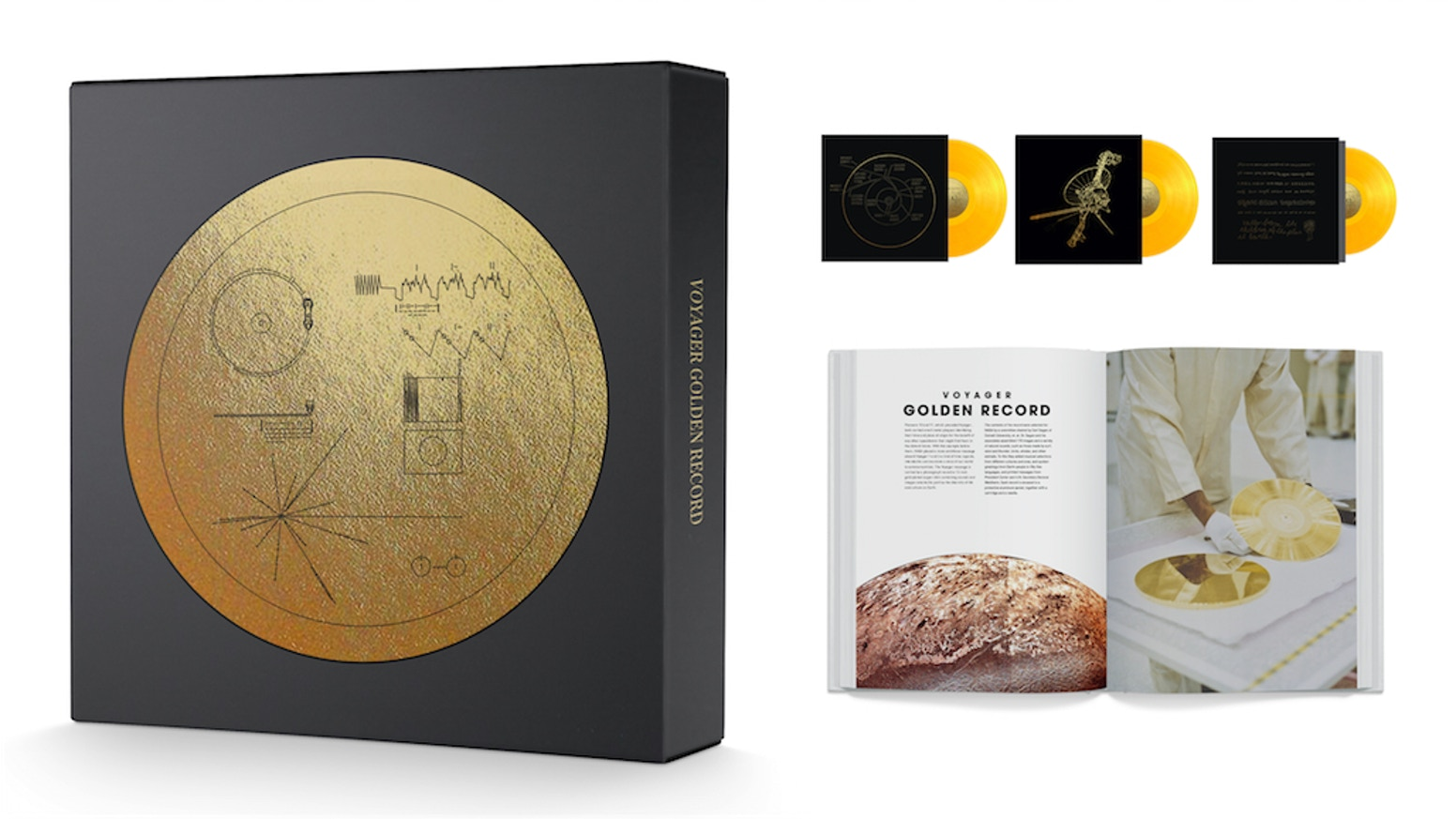 Experience the historic interstellar message for extraterrestrials the way it was meant to be played. The Voyager Golden Record is now available from Ozma Records as a 3xLP Box Set and 2xCD-Book edition.