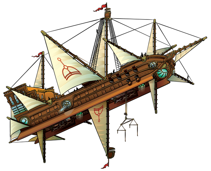 Explorers' Guild Skyship