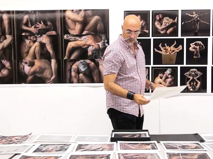 Ron editing Box photos