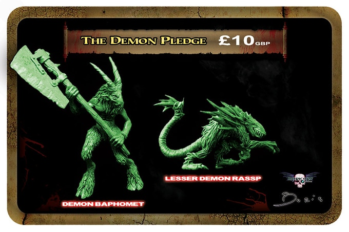 Demon minis will be cast in a lead free alloy metal