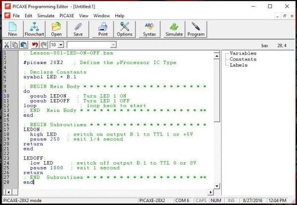 Copy/Paste Program Listing into Editor