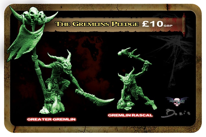 Gremlin minis will be cast in a lead free alloy metal