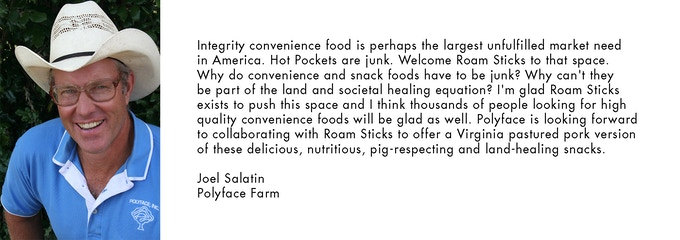 Endorsement from American farmer, lecturer and author, Joel Salatin of Polyface Farms
