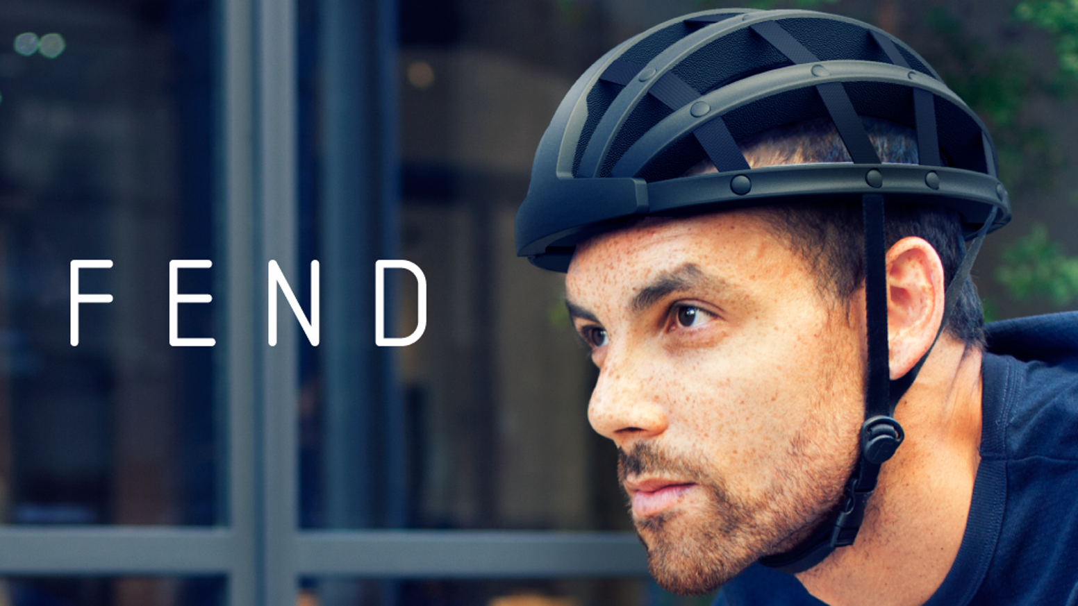 The bicycle helmet that folds to one third of its original size.  Fold, stash, and store in your bag until you need it again!