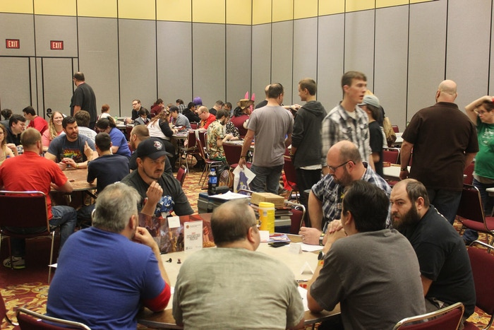Convention Goers at KantCon enjoying many of the games provided by the Gamers Haven Library