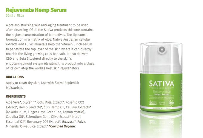 Sativa Organic Hemp Skincare - Australian Made  by Paul Benhaim