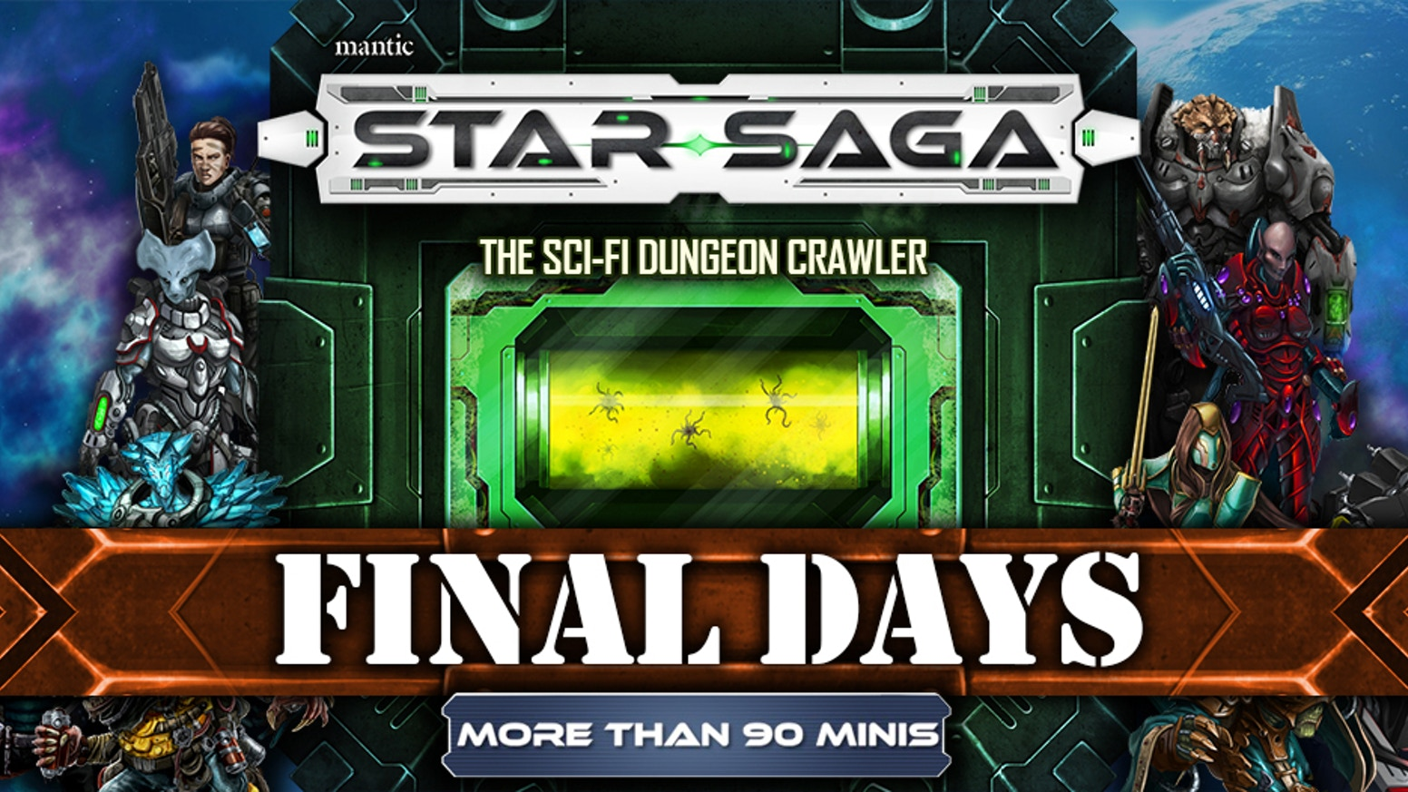 Star Saga is the tactical, story-driven science fiction dungeon crawler for 1-5 players.