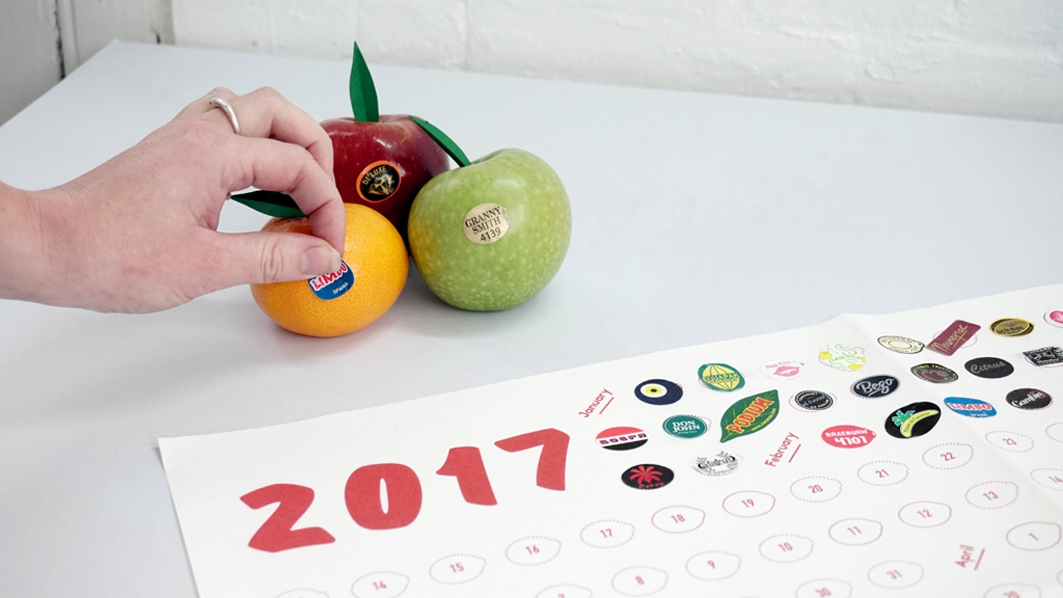 Buy your 2017 fruit sticker year planners at www.fruitstickers.xyz