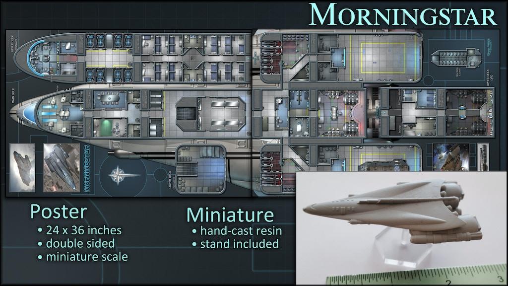 Morningstar: Starship Map Poster & Miniature project video thumbnail