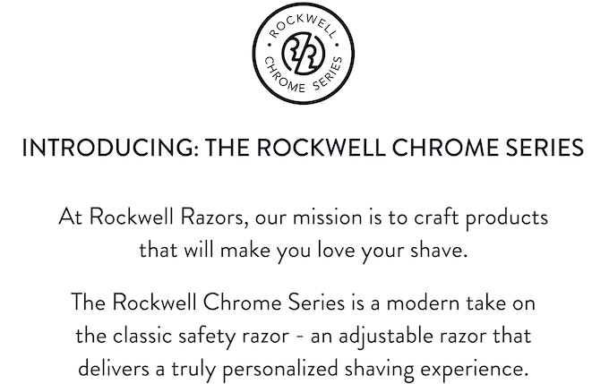 Rockwell Chrome Series - Classic, Adjustable Safety Razors by