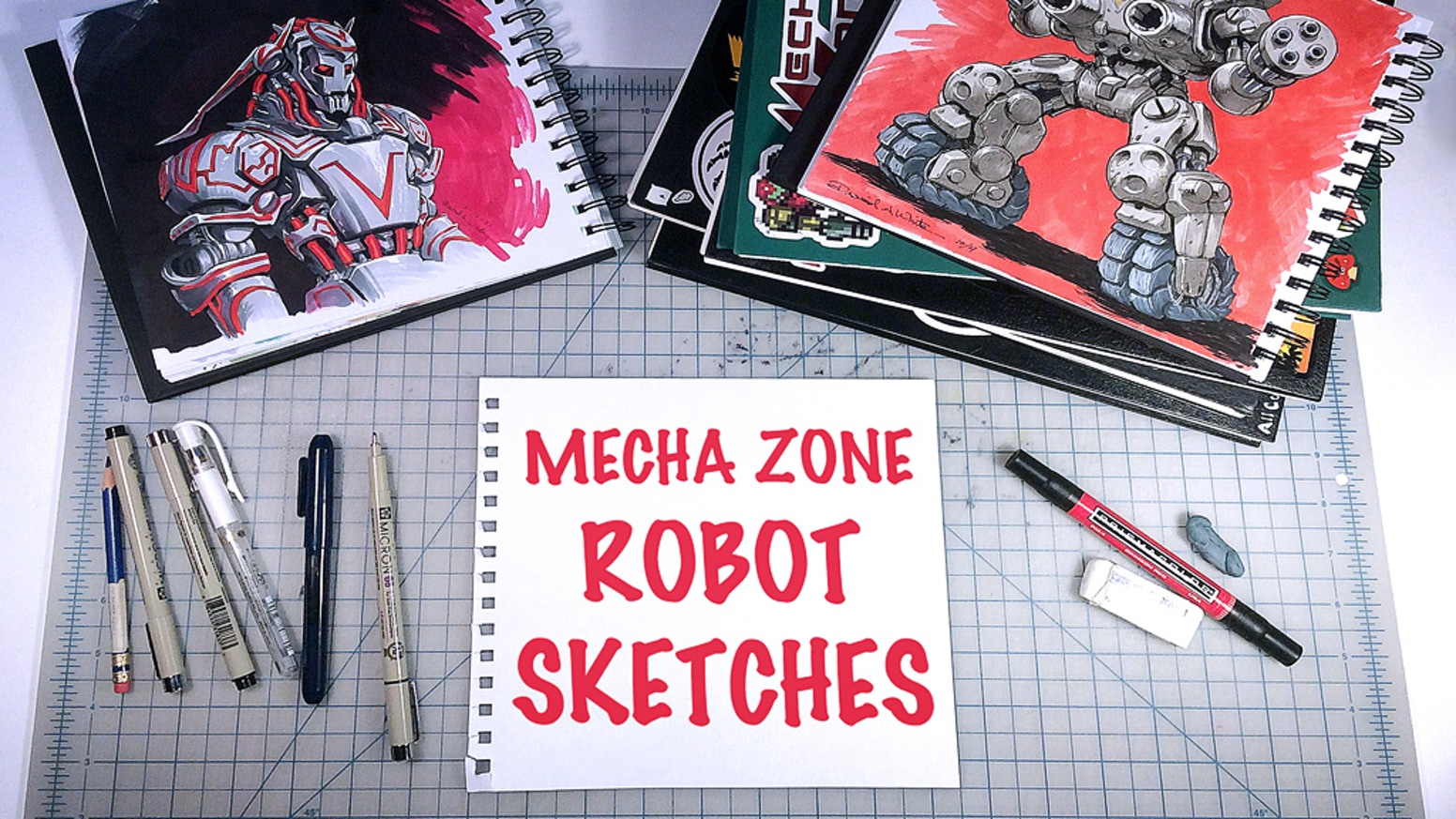 A 96 page, full-color book of my best robot themed sketches from recent Inktober and March of Robots daily drawing events.