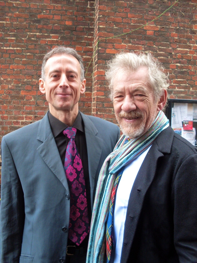 Acclaimed actor and film star Sir Ian McKellen unveil the blue plaque honouring gay rights and human rights campaigner Peter Tatchell.