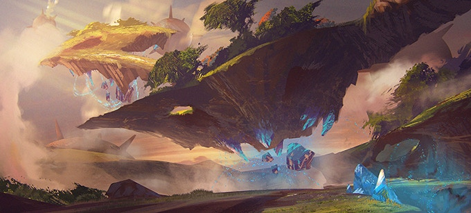 Concept art for the location Crystal Rock Landing