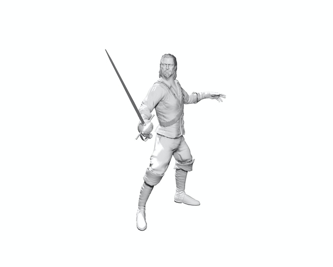 Mock-up of the Anzolo Zorzi figurine. Final figure will be painted.