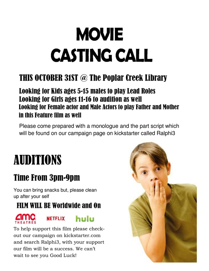 Casting Call this October 31st