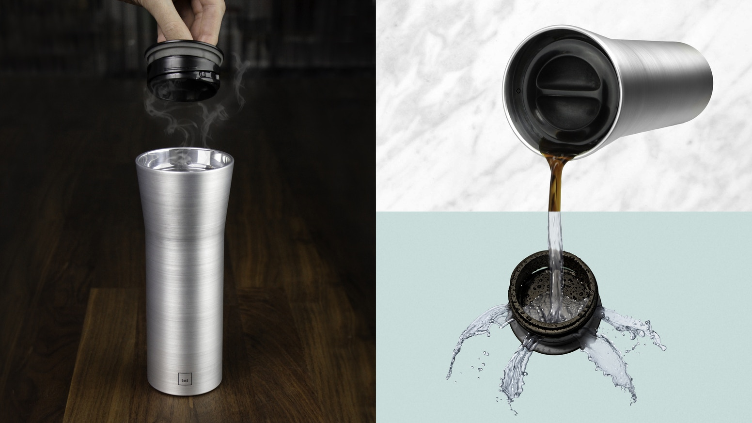 The world's first travel mug with authentic cup-like sipping and truly easy cleaning. Keeps drinks hot or cold for hours without leaks.