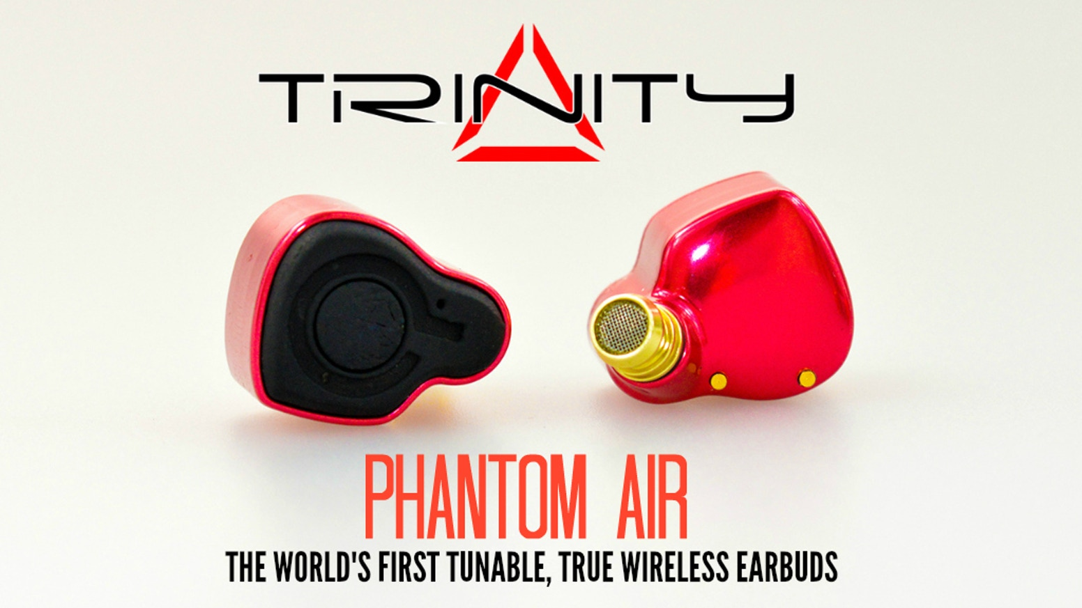 Phantom Air is the NEW benchmark for wireless earbuds. Tuneable, high quality sound and high battery life that recharges on the go.