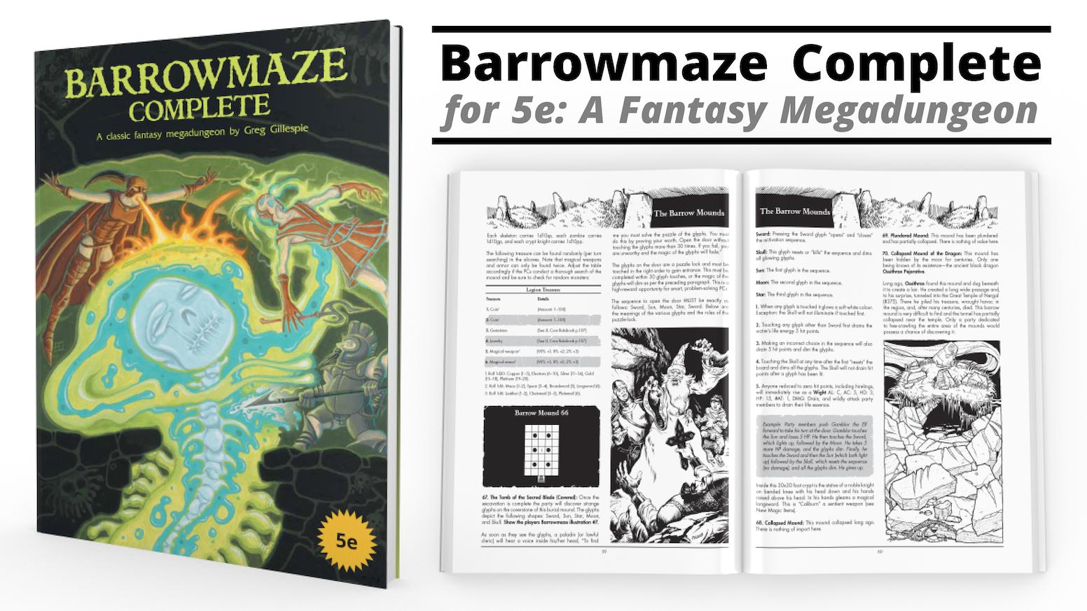 Barrowmaze Complete for 5e by Rogue Comet — Kickstarter