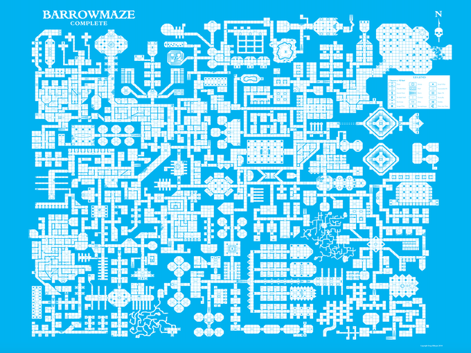Barrowmaze Poster Map (Digital Copy)