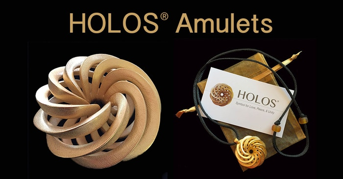HOLOS Amulets are a beautiful design and a support for inner and outer peace. Its geometry models the creative pattern of the Universe.