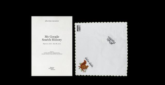 My Google Search History, tome 2 & un mouchoir brodé - contribution de 33 € ou plus