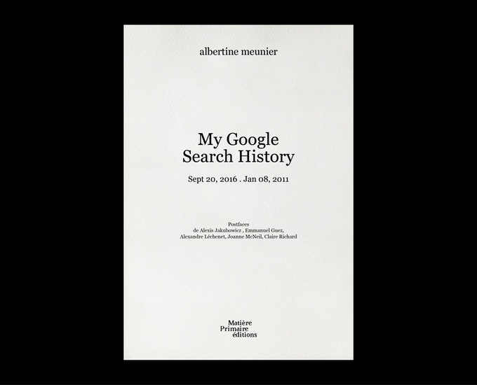 My Google Search History, tome 2 - contribution de 25 € ou plus