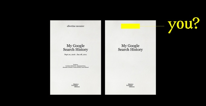 My Google Search History, tome 2 & Votre Google Search History  - contribution de 90 € ou plus