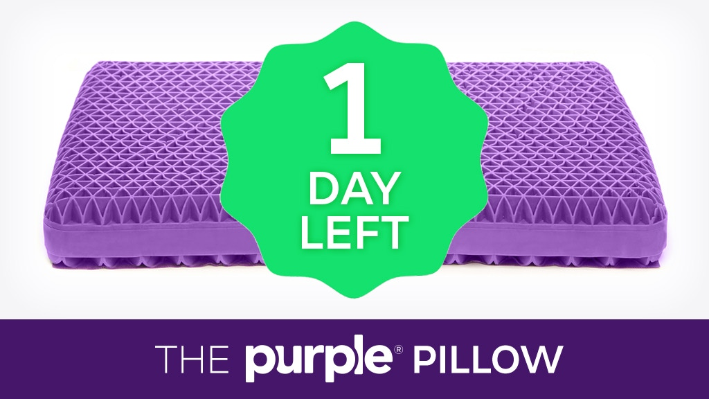 Purple® Pillow: The World's First No-Pressure Head Bed project video thumbnail