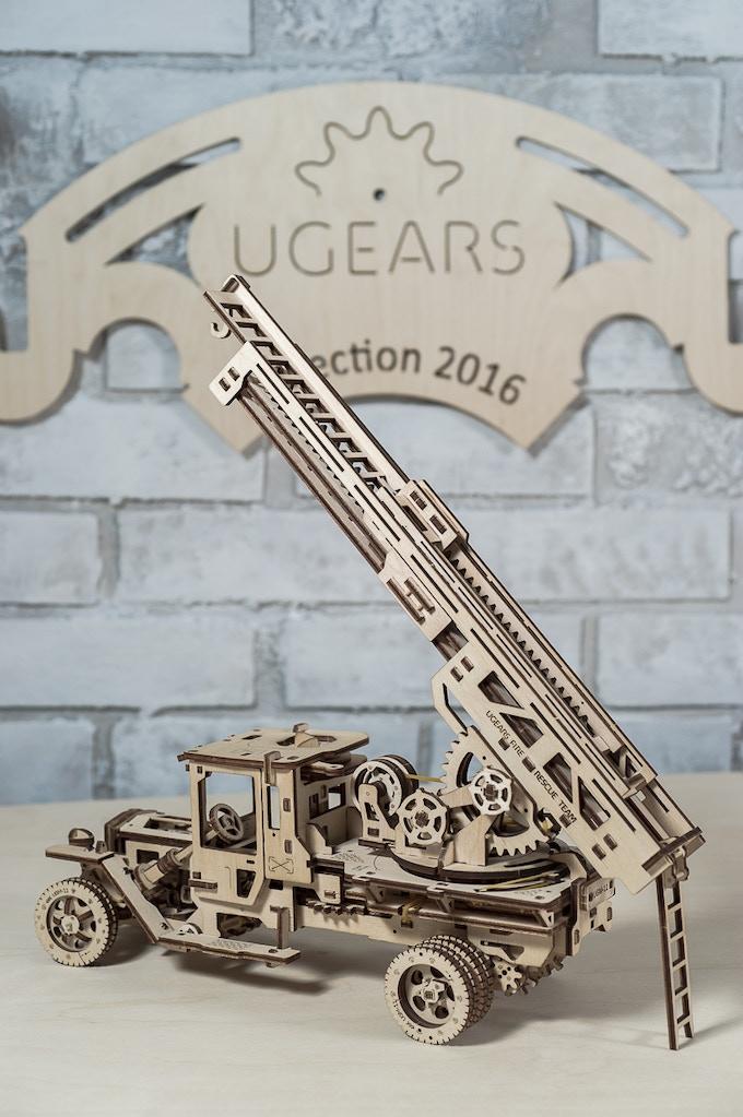UGEARS Fire Truck - Exclusively on Kickstarter