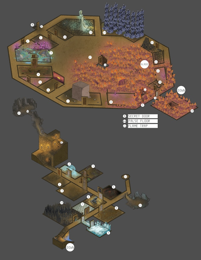3D Mapping of the Glade of the Burning Dead