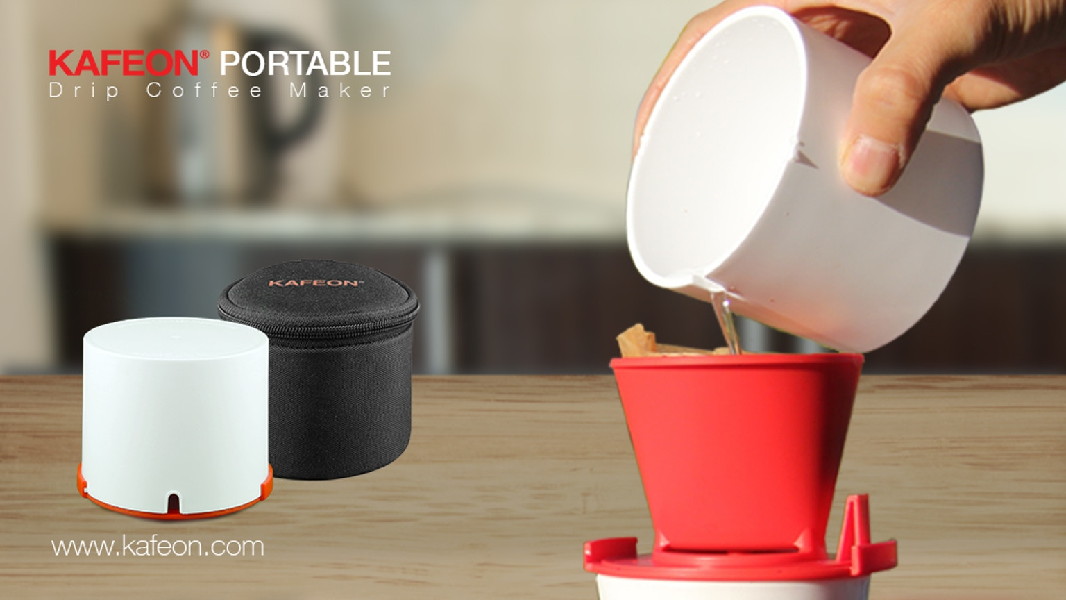 KAFEON PORTABLE - Drip Coffee Maker by KAFEON Kickstarter