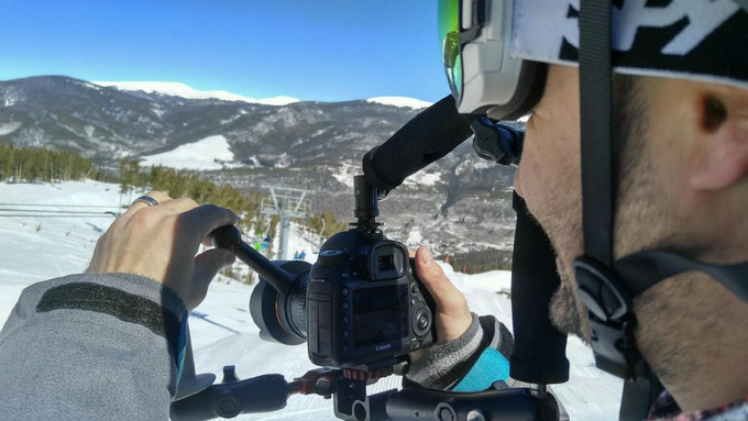 Ski videography with prototype LensShifter.