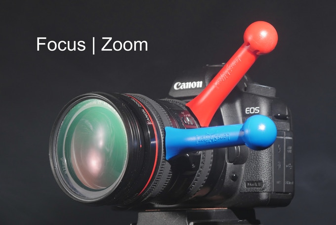 Control focus and zoom on zoom lenses.