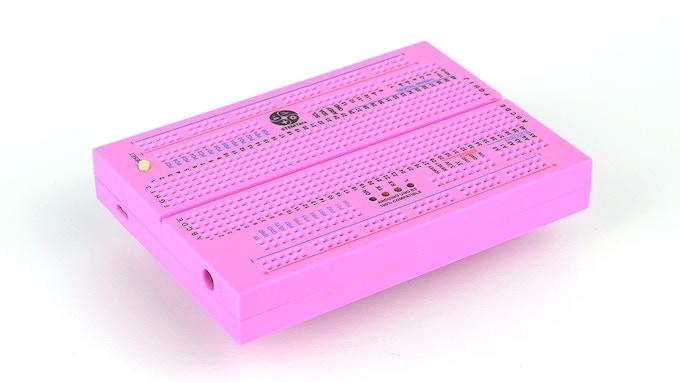 Pink STEMTera Breadboard