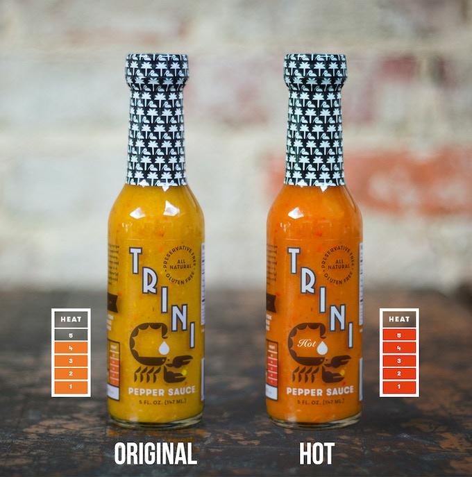 Choose from Trini Pepper Sauce Original and Trini Pepper Sauce Hot in our rewards!
