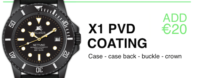 Add a full PVD coating to your watch