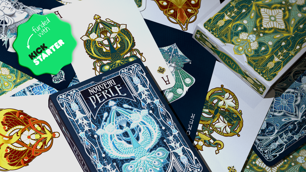 15-day campaign; playing cards inspired by Art nouveau jewelry, depicting the original heroes & heroines from the 16th c. French decks