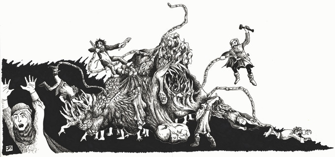 Can the party survive the Shambling Flesh Mass!