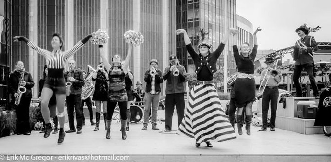 Hungry March Band at One Penn Plaza 2014