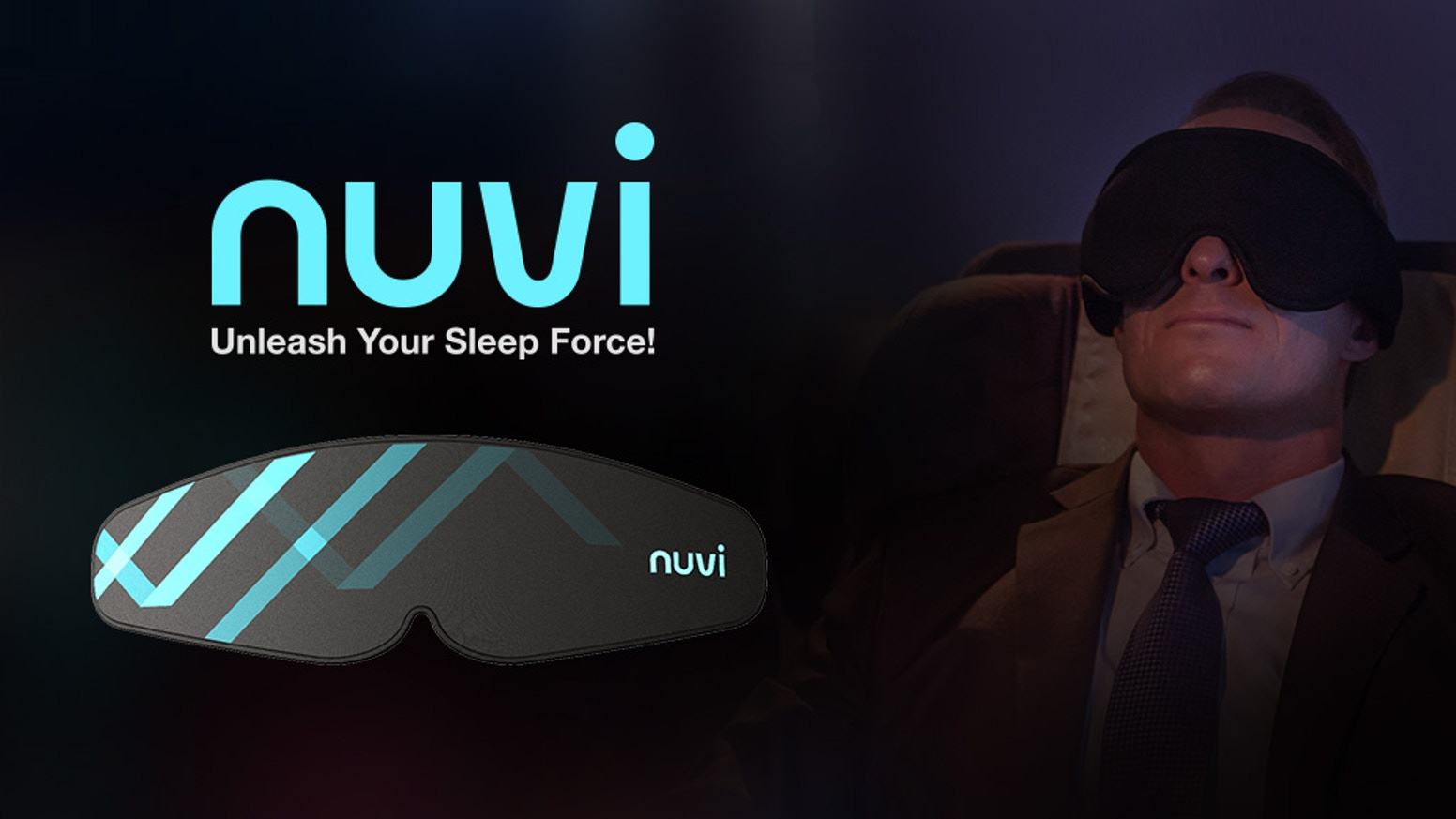 Nuvi is a smart sleeping mask designed to improve your sleep quality, creativity and adjust your jet lag!