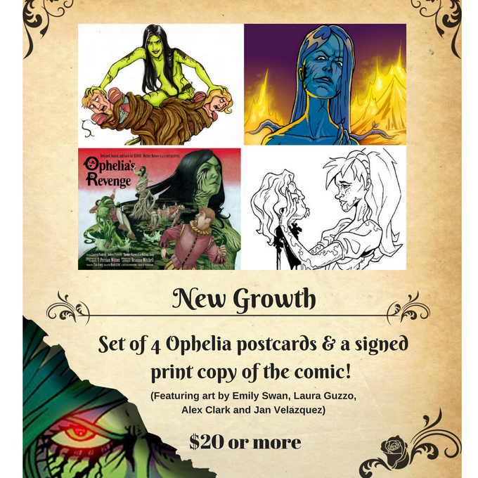NEW! Postcard set featuring art from Laura Guzzo, Emily Swan, Alex Clark and Jan Velazquez!