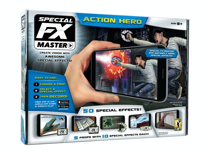 Photographed package production prototype for the final production version of Special FX Master