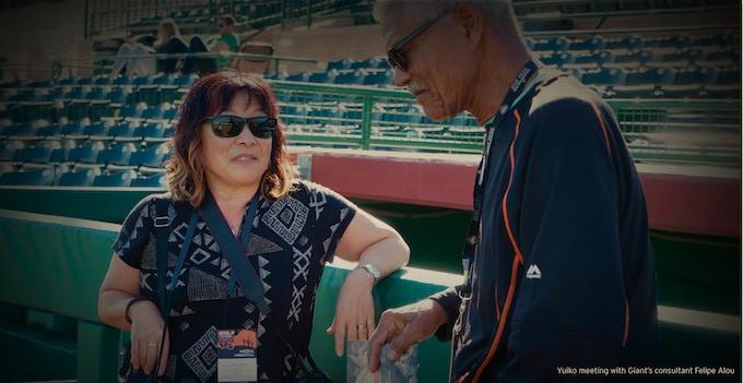 Director Yuriko Romer with Felipe Alou ©2016, Flying Carp Productions