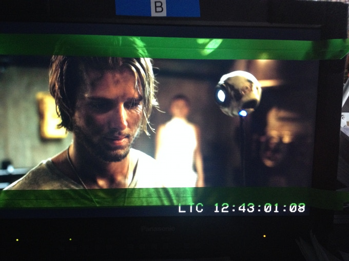 James (Drew Van Acker) and WebCam are introduced to a mysterious stranger