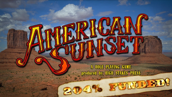 American Sunset is a tabletop roleplaying game set in a fictional post-Civil War Wild West, inspired by the Western genre.